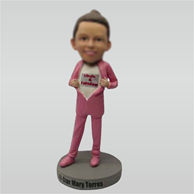 Custom girl bobbleheads look at me