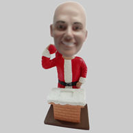 Personalized custom Santa Claus bobblehead doll