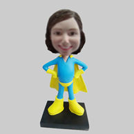 Personalized custom super girl bobbleheads