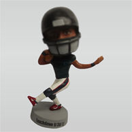 Custom man and Rugby bobble head