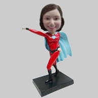 Personalized custom super woman bobble heads