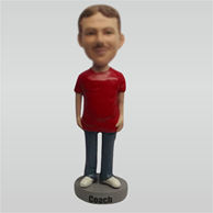 Customize Relaxing man bobblehead doll
