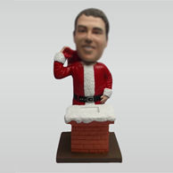 Custom Santa Claus and chimney bobbleheads
