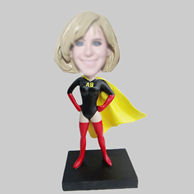 Personalized custom super woman bobble head