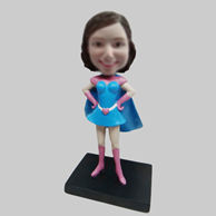 Personalized custom super girl bobble heads