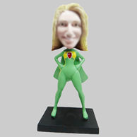 Personalized custom super woman bobblehead