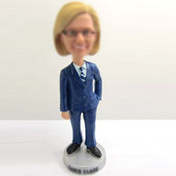 Personalized custom police woman bobbleheads