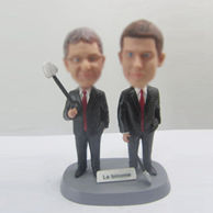 Personalized custom partner bobbleheads