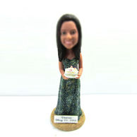 Personalized custom happy birthday cake bobbleheads