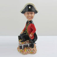 Personalized custom Pirates bobbleheads