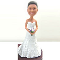 Personalized custom beautiful Bride bobbleheads