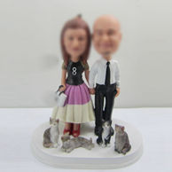 Personalized custom sweet lovers bobbleheads