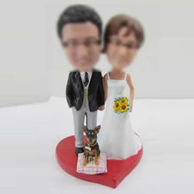 Personalized Personalized custom wedding cake bobble head doll