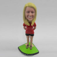 Personalized custom female Baseball bobbleheads
