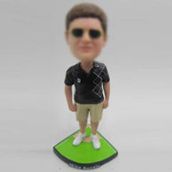 Personalized custom Baseball fans bobblehead
