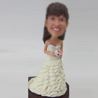Personalized custom beautiful Bride bobblehead