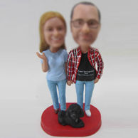 Personalized custom couple bobble head