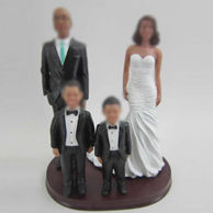 Personalized custom family bobble head