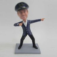 Personalized custom happy police bobbleheads
