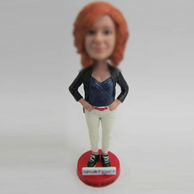 Personalized custom white pants bobbleheads