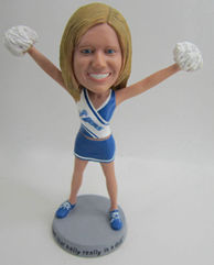 Personalized custom Cheerleaders bobbleheads