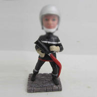 Personalized custom Fireman bobbleheads