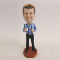 Personalized custom man in office bobbleheads