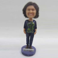 Personalized custom casual Mom bobbleheads