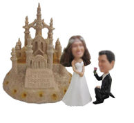 Personalized custom Beach marry him bobbleheads