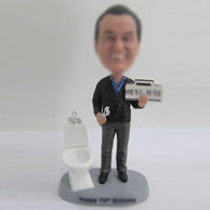 Personalized custom Repair toilet bobbleheads