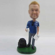 Personalized custom man with Coffee bobbleheads