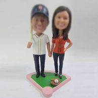 Personalized custom sports couple bobbleheads