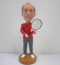 Personalized custom Tennis bobbleheads