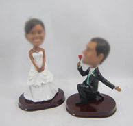 Personalized custom Propose marriage bobbleheads
