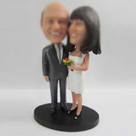 Personalized custom happiness wedding cake bobble head