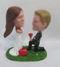Personalized custom happiness wedding cake bobble heads