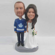 Personalized custom happiness wedding cake bobblehead doll