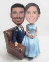 Personalized custom wedding bobbleheads