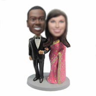 Personalized custom India wedding cake bobble heads