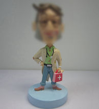 Personalized custom funny doctor bobbleheads