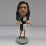 Personalized custom beautiful dress bobble head