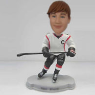Personalized custom Hockey player bobble heads