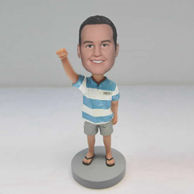 Personalized custom cute boy bobblehead dolls