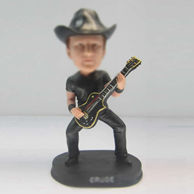 Personalized custom man with bass bobble heads