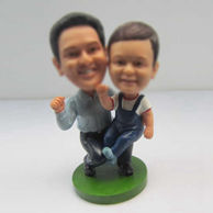 Personalized custom Dad and Son bobbleheads