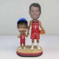 Personalized custom Dad and son bobble heads