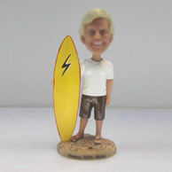 Personalized custom Surfing bobble heads doll