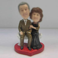 Personalized custom Dad and Mom bobbleheads