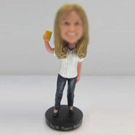 Personalized custom female fans bobbleheads