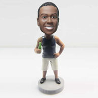 Personalized custom man with shorts bobbleheads